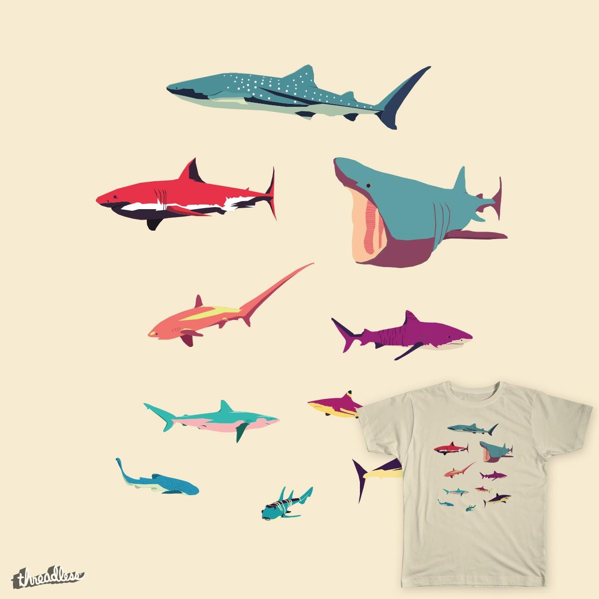 Sharks by greatskybear on Threadless