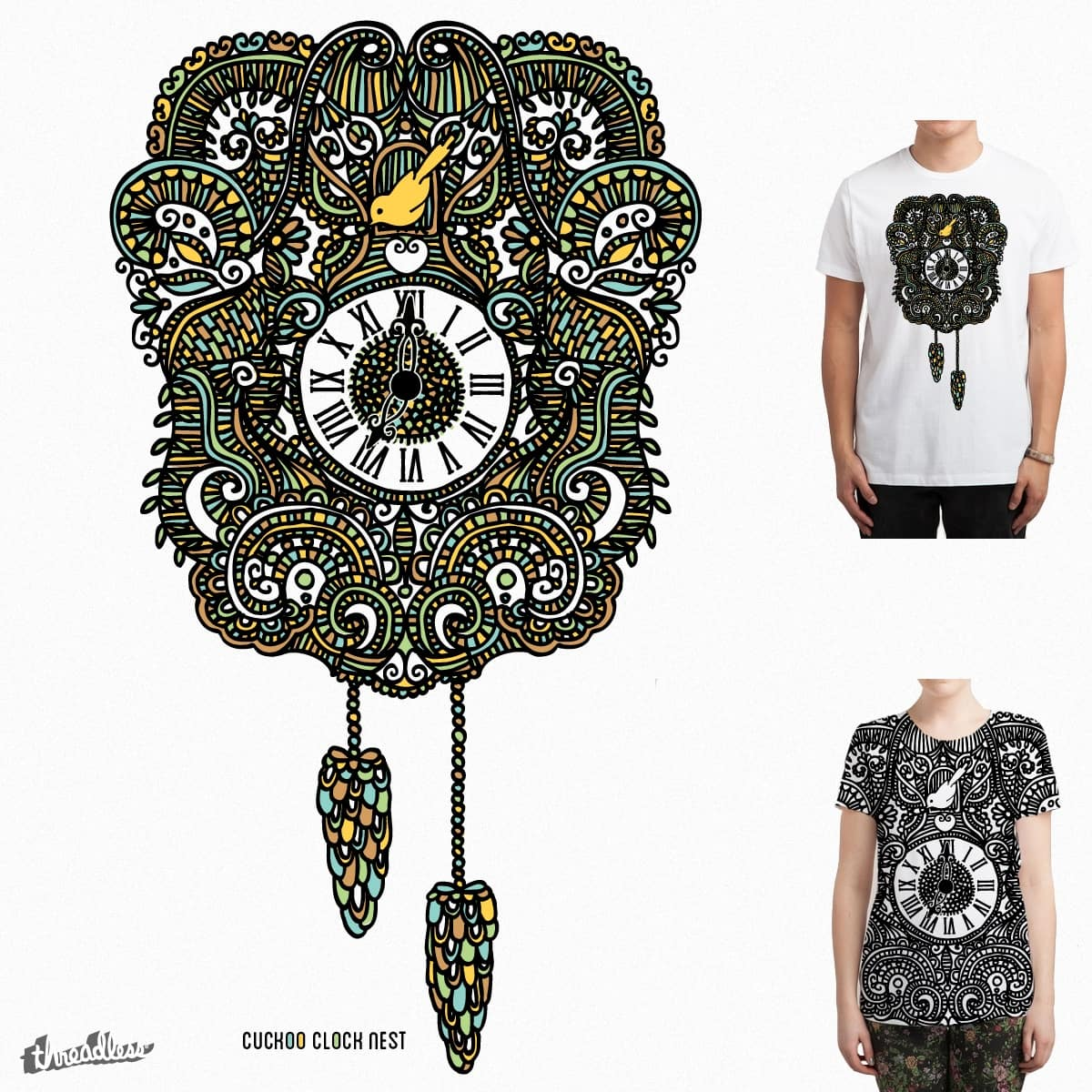 Cuckoo Clock Nest by swissette on Threadless