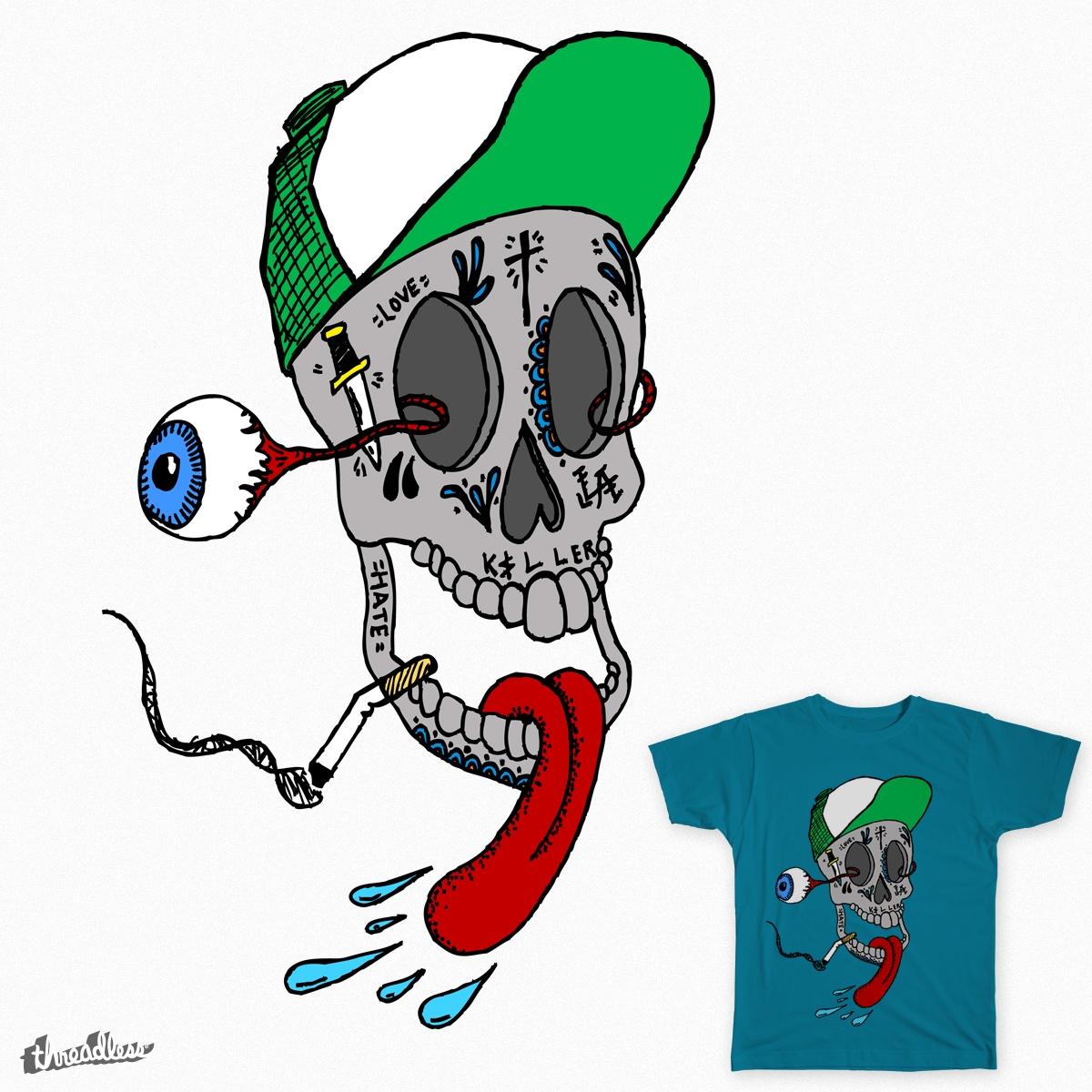 The Gnarliest skull around. by toferthegreat on Threadless