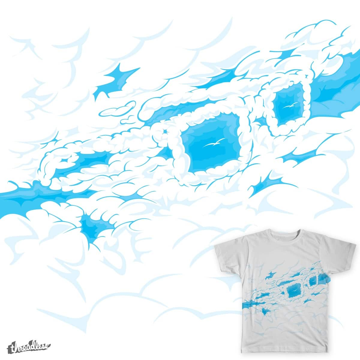 Geek on the clouds by deepsyner on Threadless