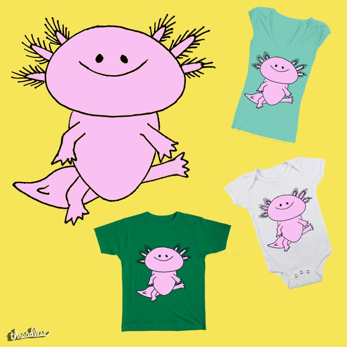 Dopey Axolotl by BlueOwl on Threadless