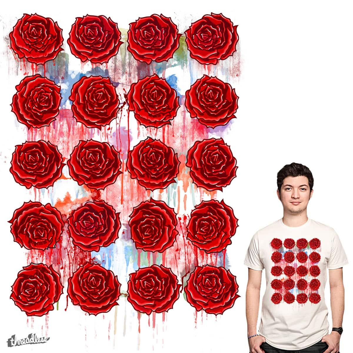 Bleeding Roses by PolySciGuy on Threadless