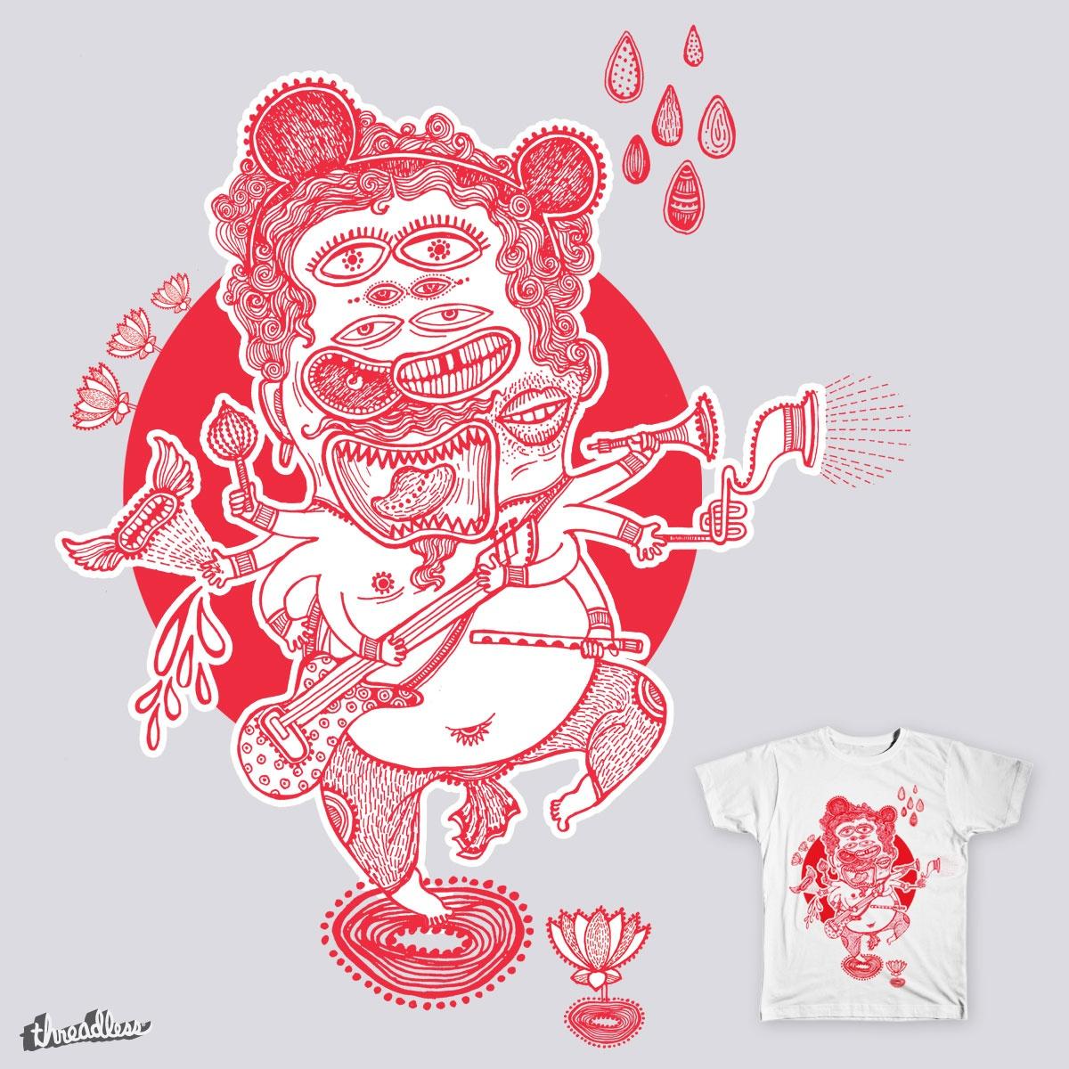 Rockin' God by ajinkya on Threadless