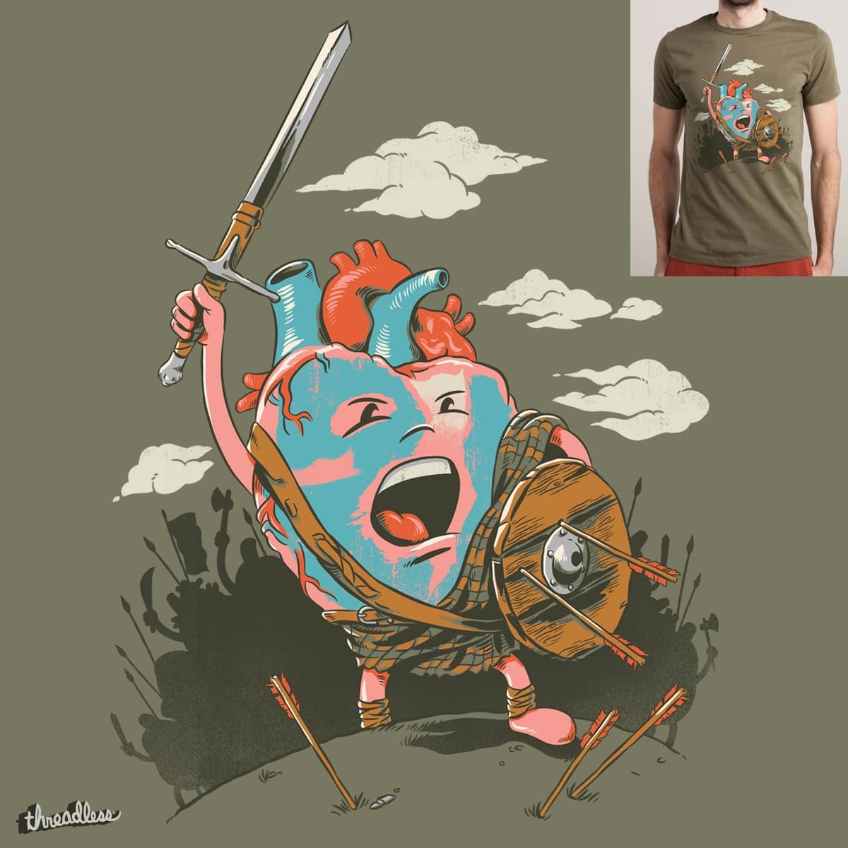 Braveheart by cpdesign on Threadless