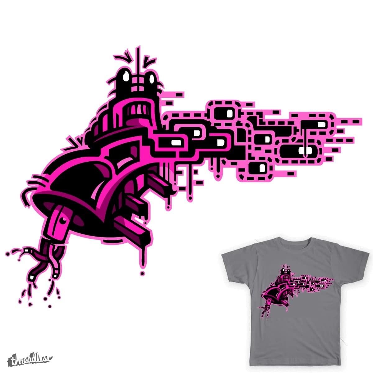The Purple Robot Dream by TFogs on Threadless