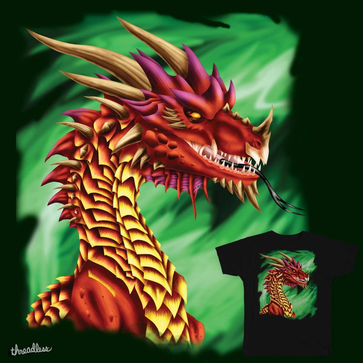 Red Dragon by Myspiderungoliant on Threadless