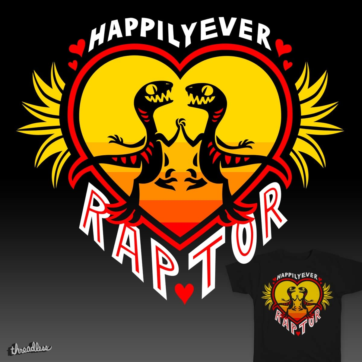 Happily Ever Raptor by Versiris on Threadless