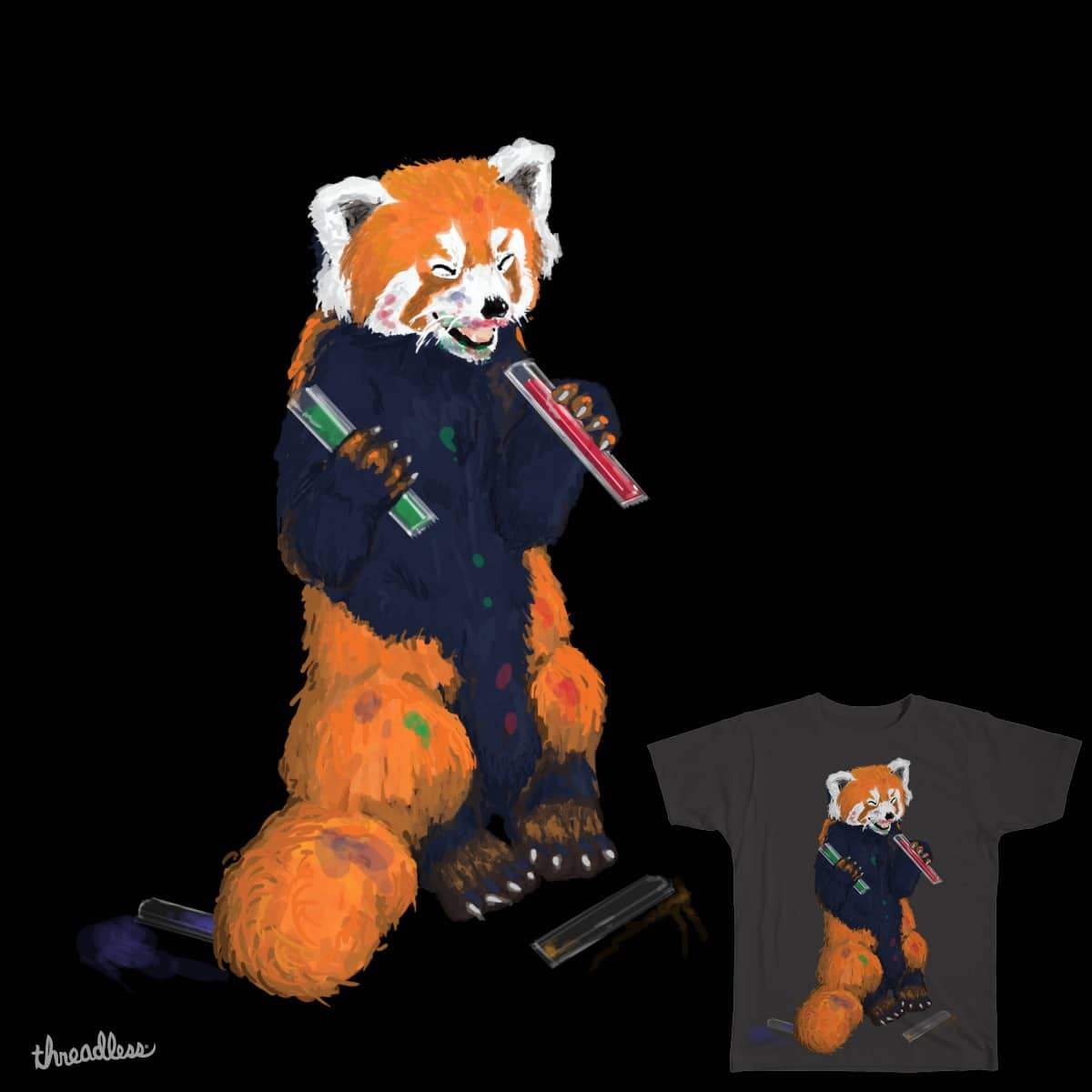 Red Icy Pole Panda by JK_Lovelock on Threadless