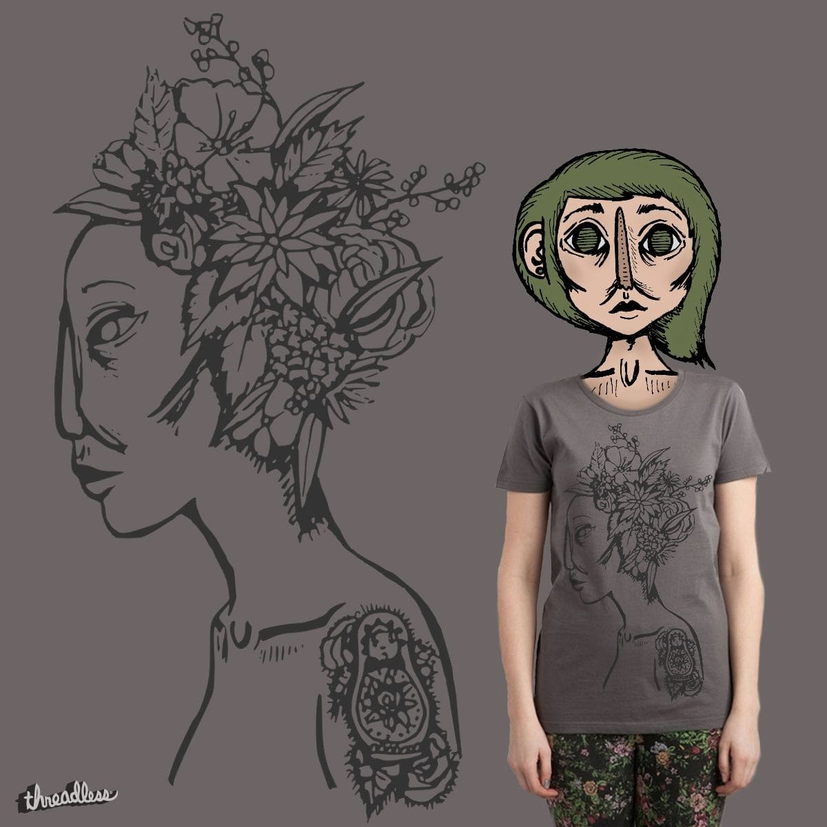Botanical Bride by poutinepeaks on Threadless