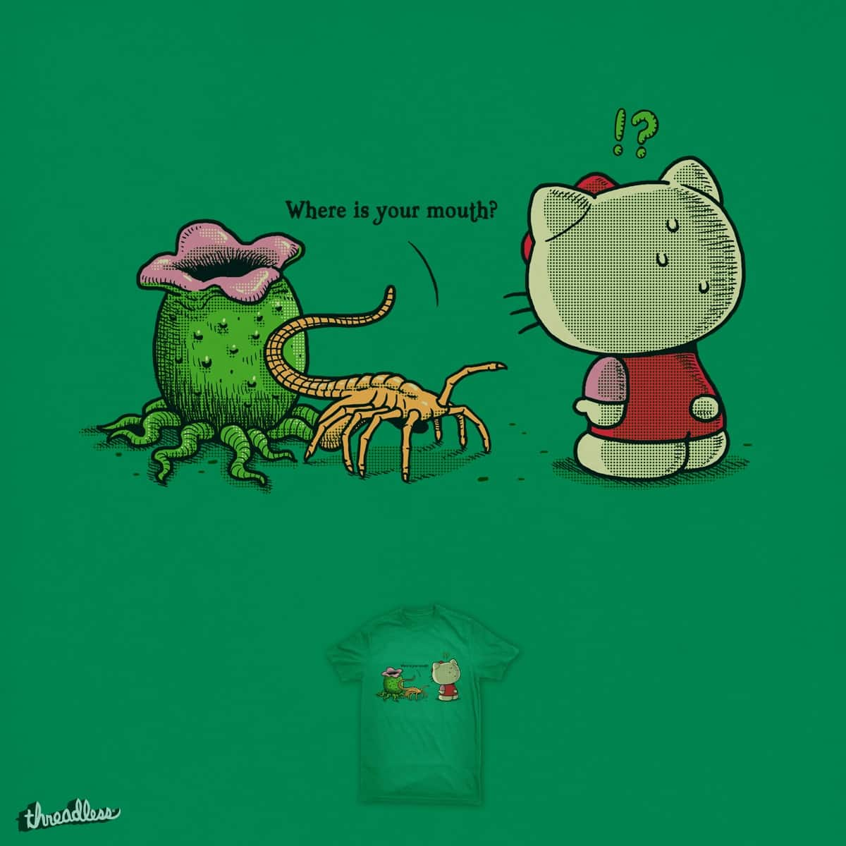 Where Is Your Mouth? by ben chen on Threadless