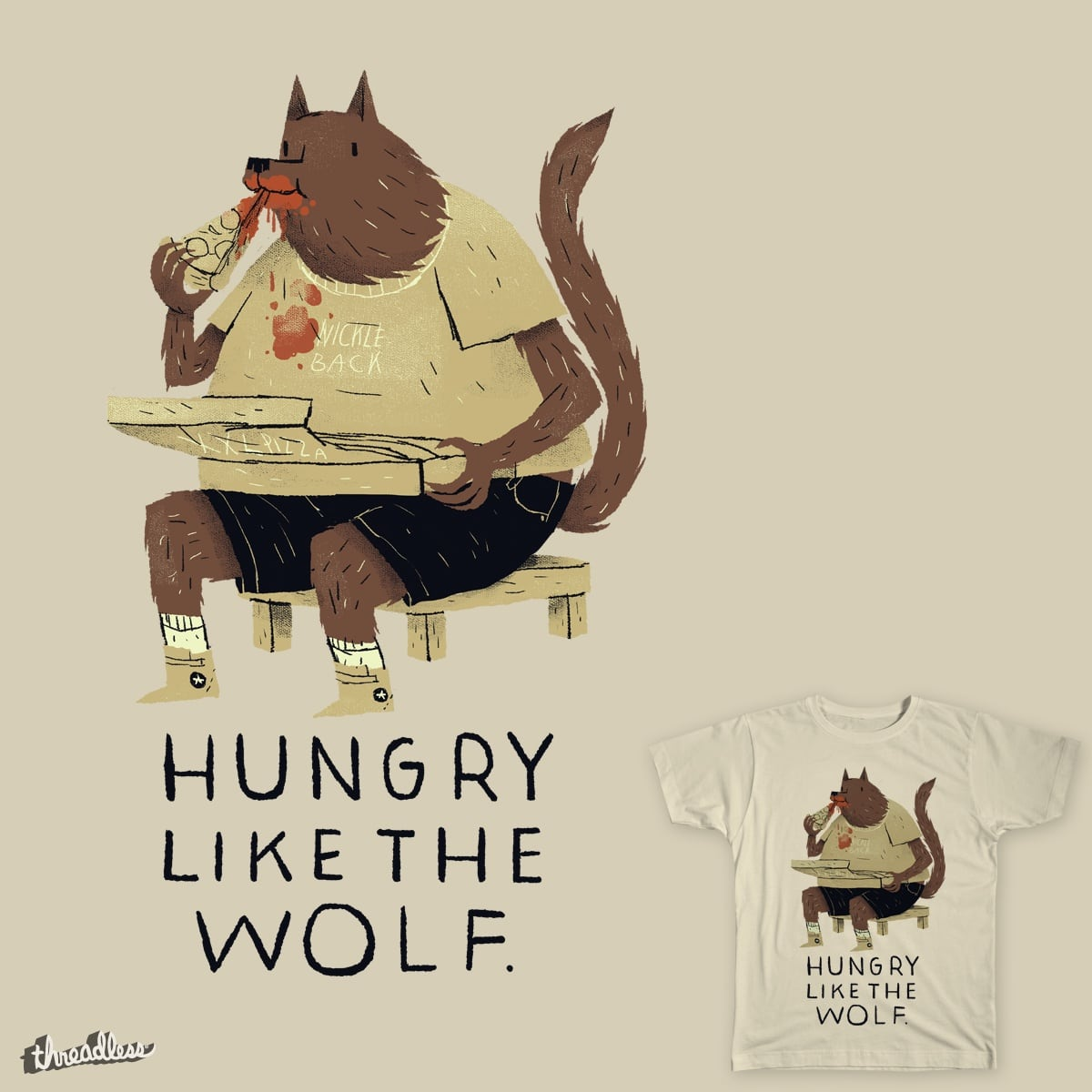 hungry like the wolf by louisroskosch on Threadless