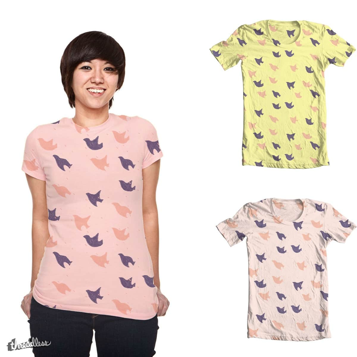 Flying bird pattern by madebymt on Threadless