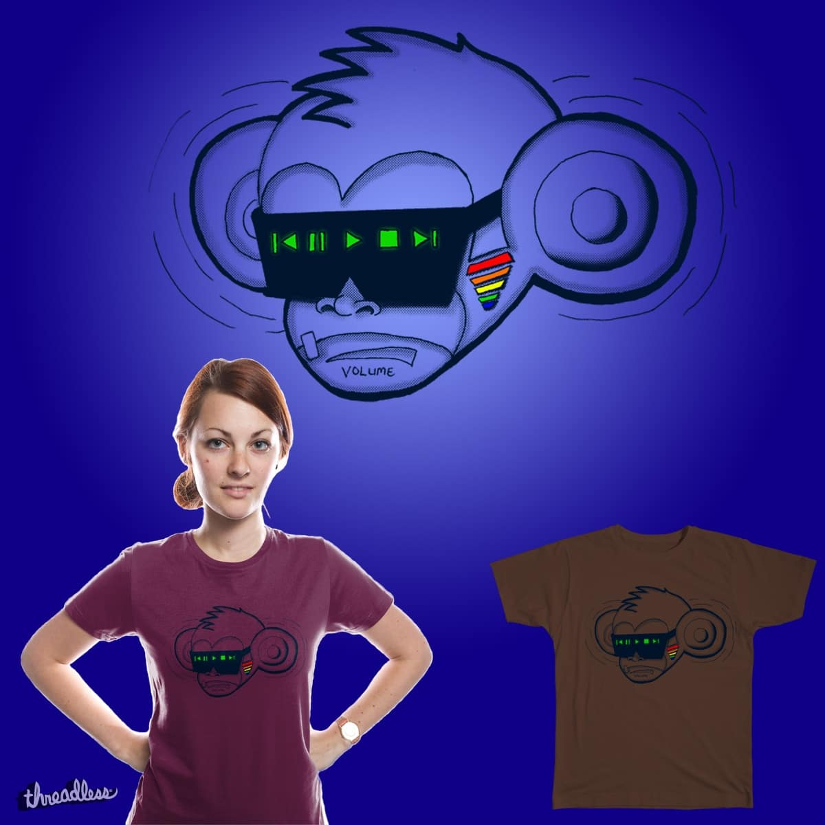 MONKEY MEDIA PLAYER by Max439 on Threadless