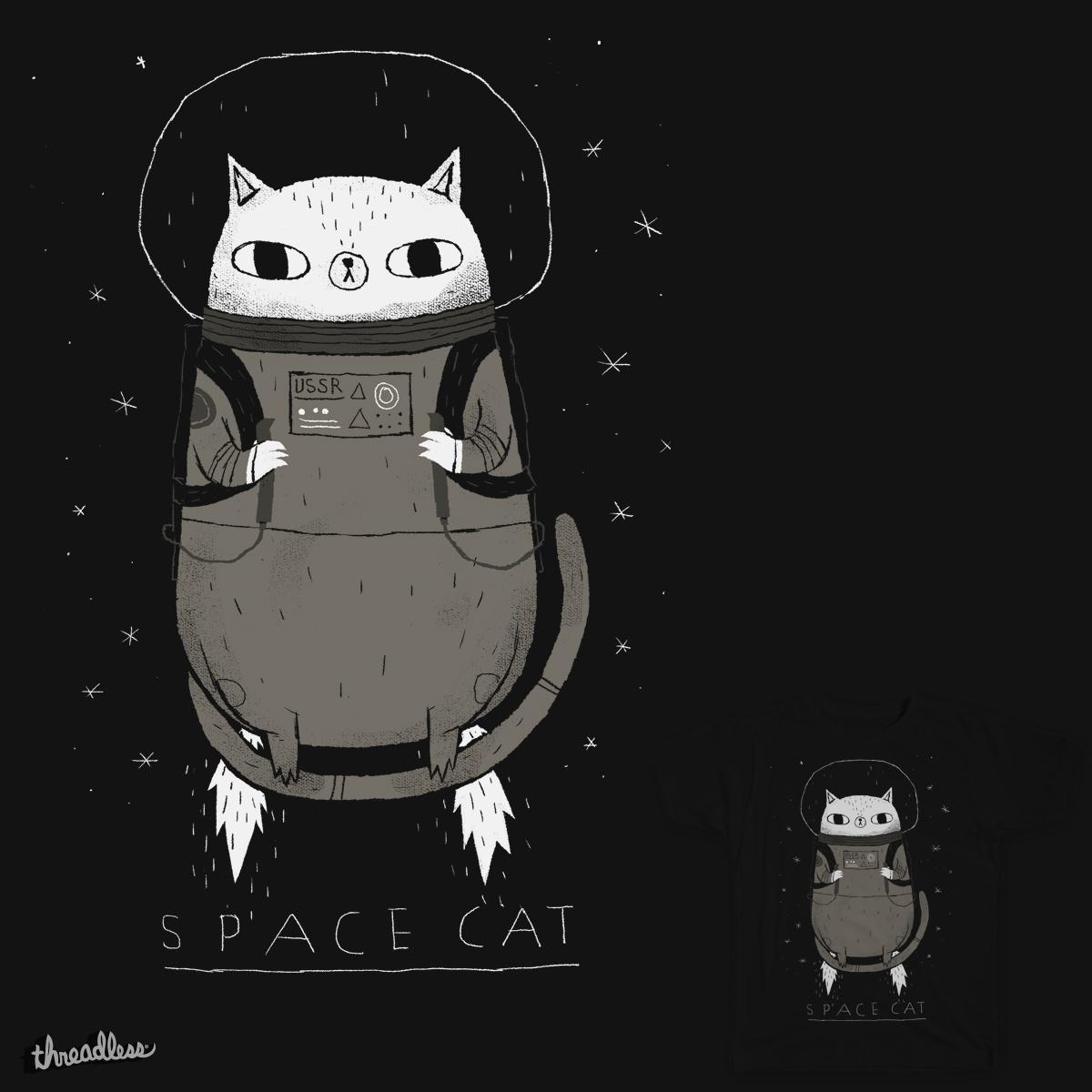 space cat by louisroskosch on Threadless