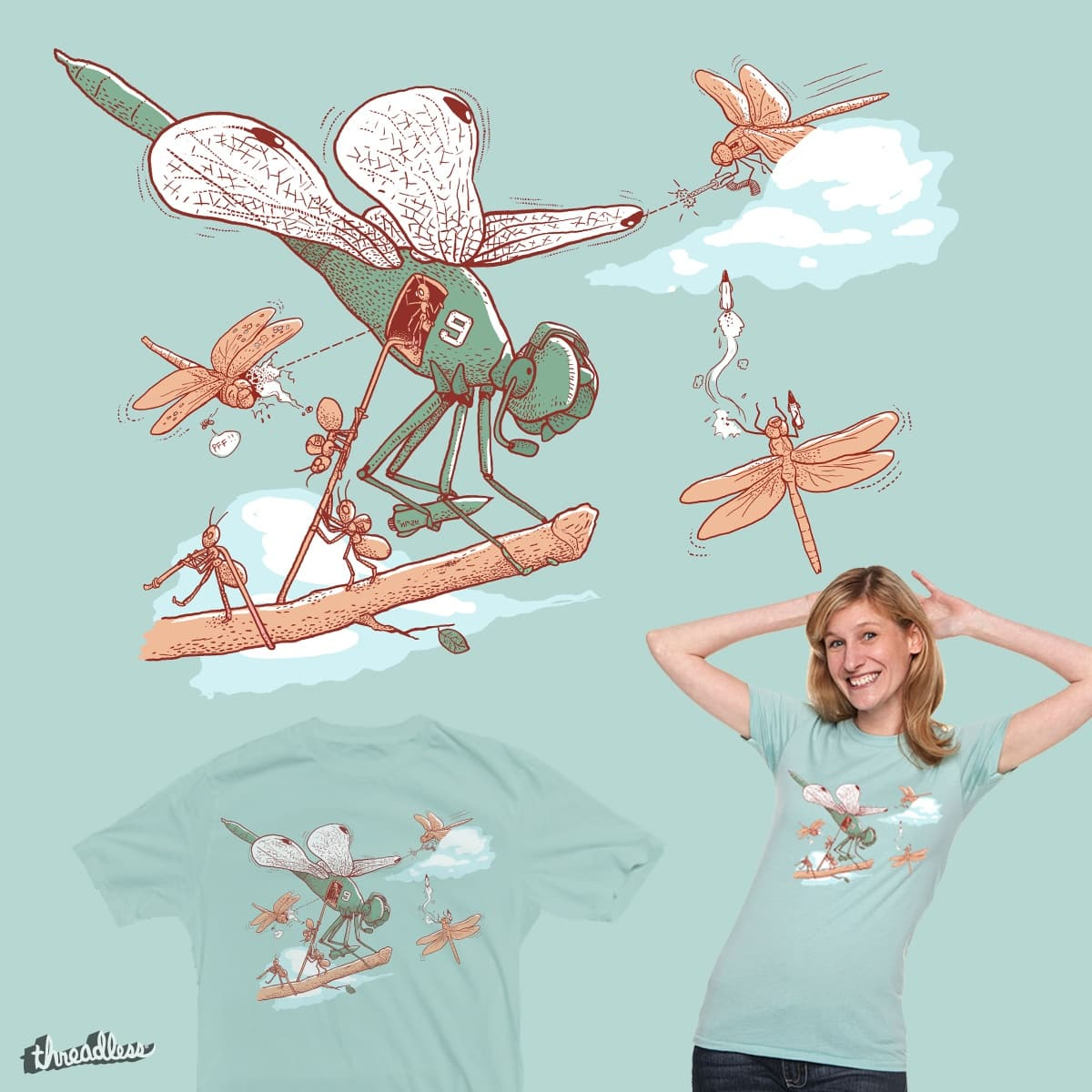 dragoncopter by bellamyc on Threadless