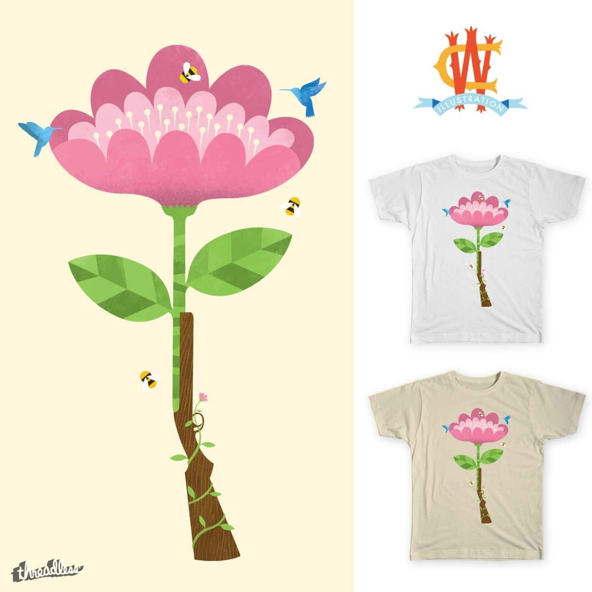 Flower Power by Wharton on Threadless
