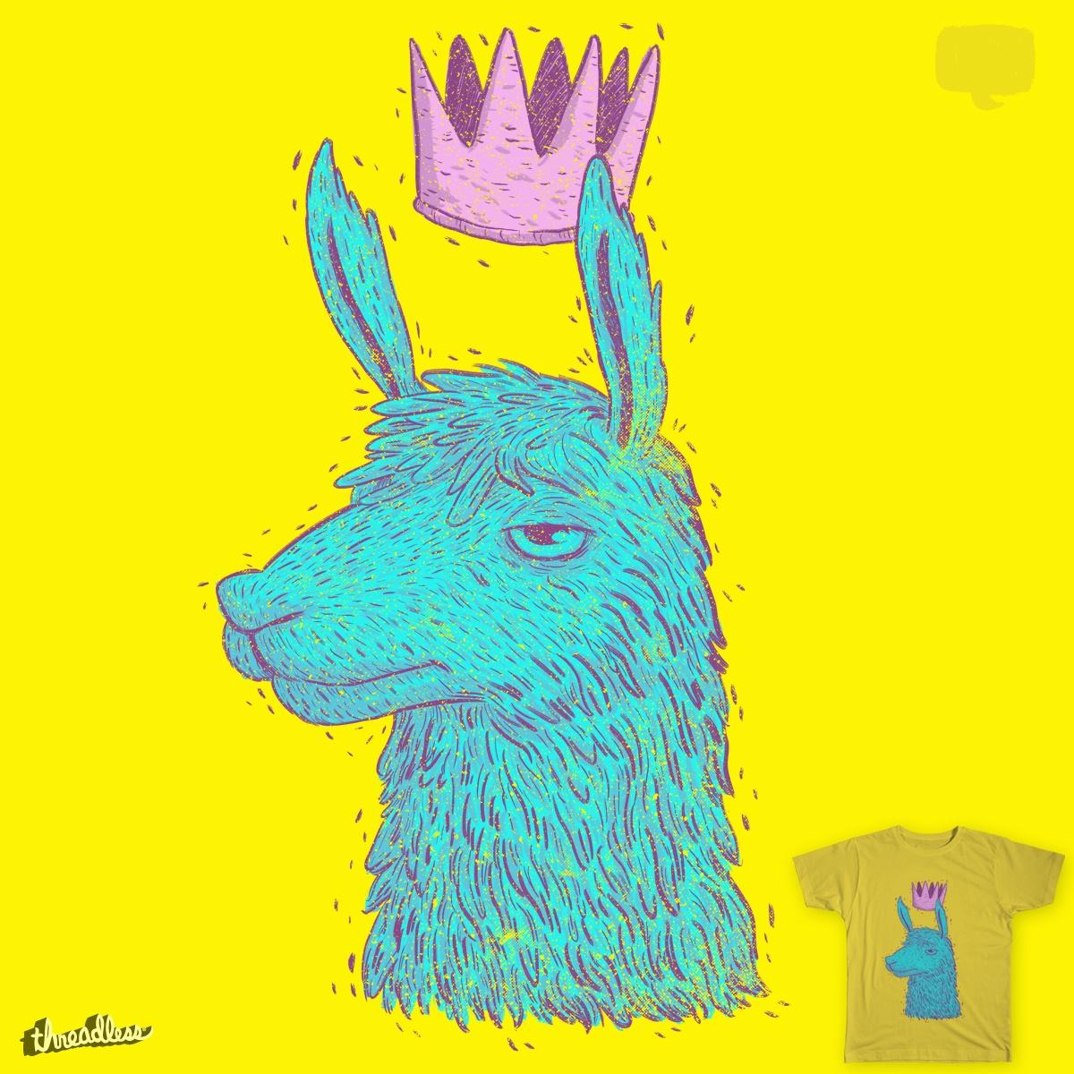 Llama King by lxromero on Threadless