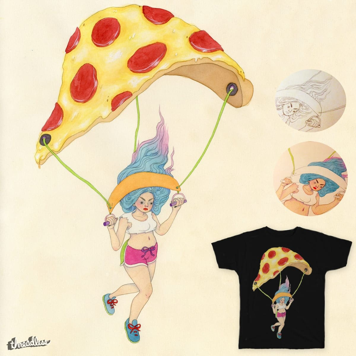 Pizza-chute by wishcandy on Threadless