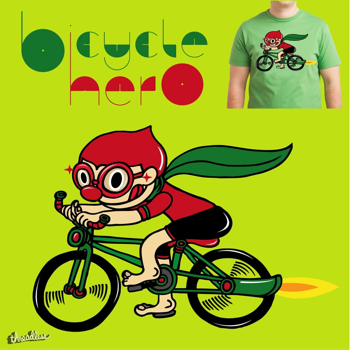 Bicycle Hero by RONOBOY on Threadless