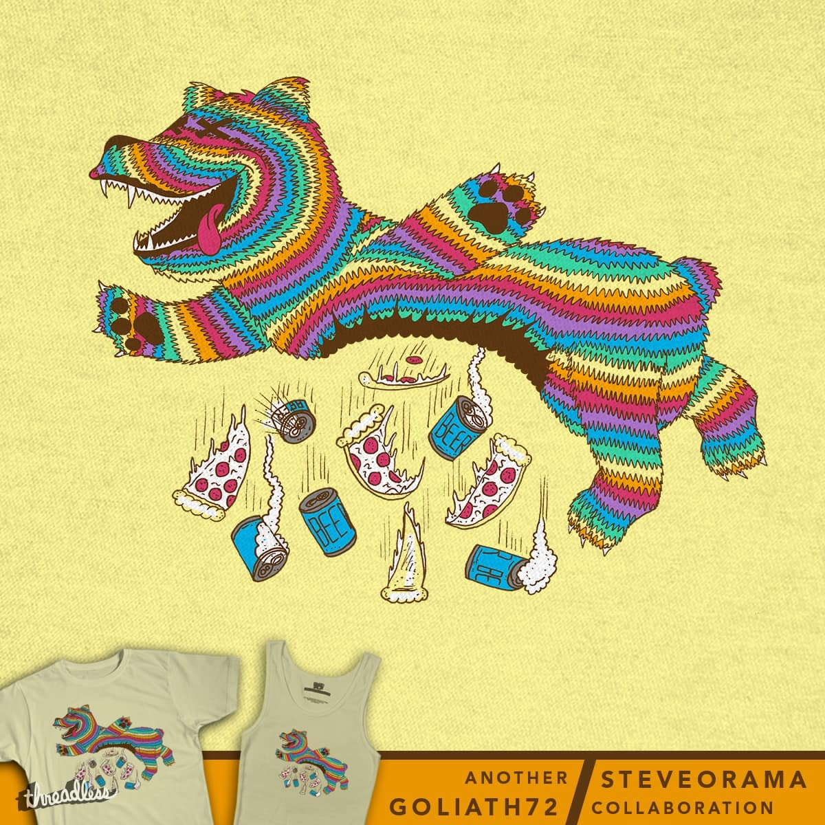Adult Piñata by SteveOramA and goliath72 on Threadless