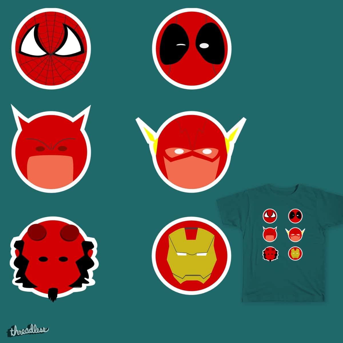 Red Hero by Trashcancomic on Threadless