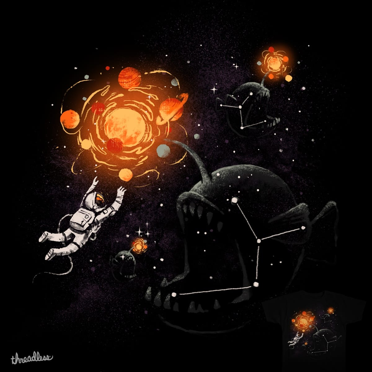 Space Bait by FRICKINAWESOME and temyongsky on Threadless