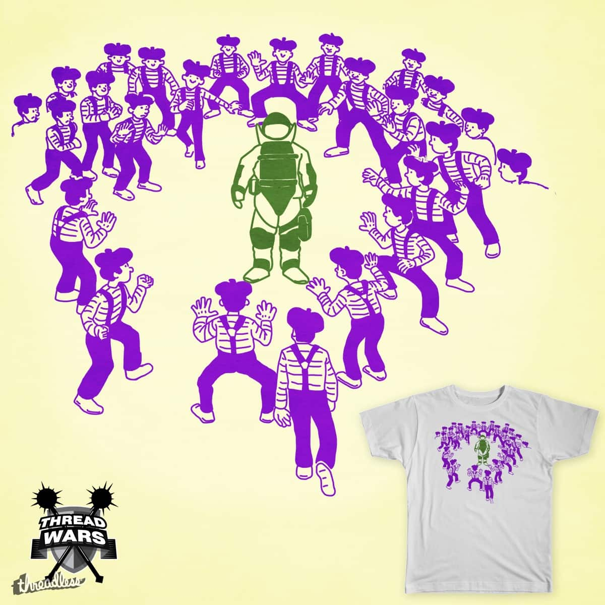 walking through a mime field by mutsu on Threadless