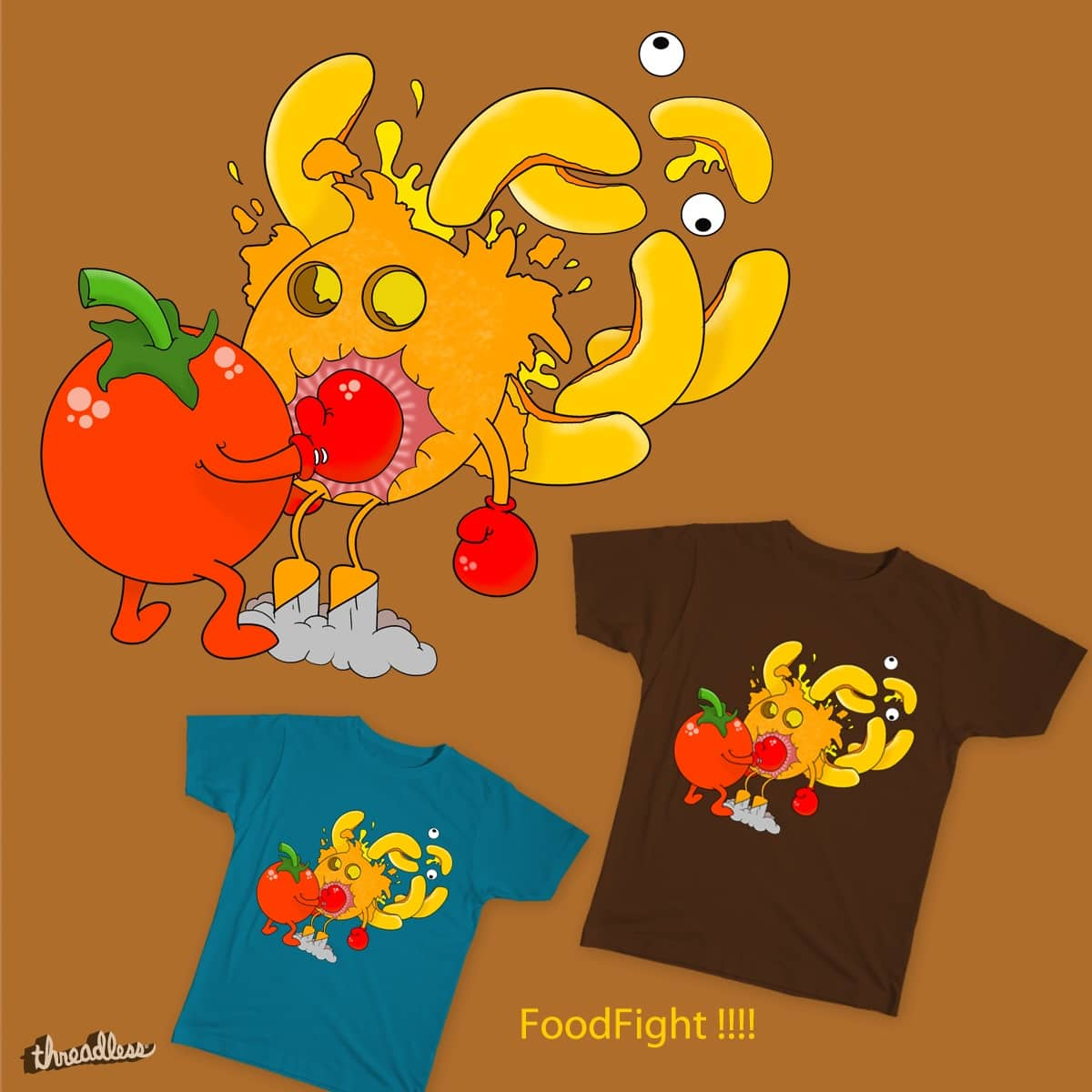FOODFIGHT by Inkgorilla on Threadless