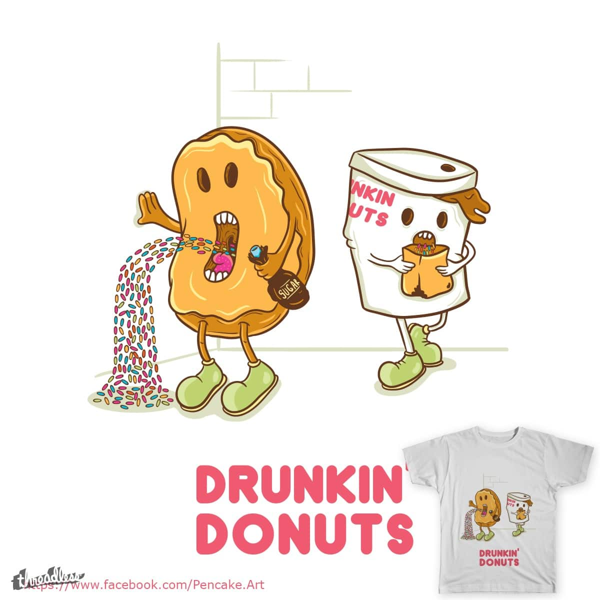 Drunkin Donuts by Pencake on Threadless