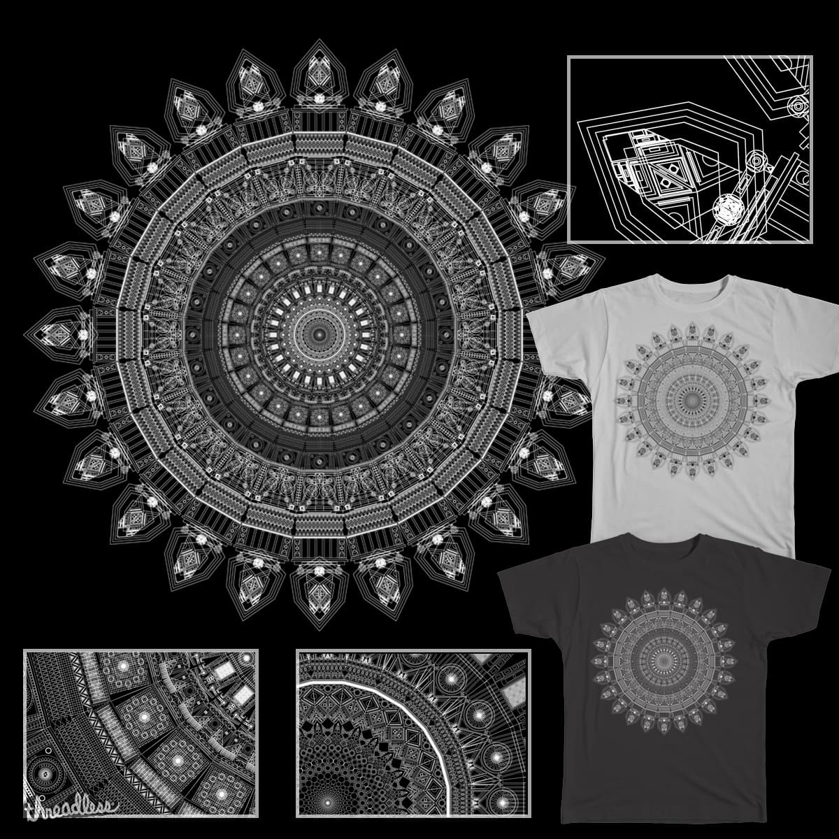 Mandala rose by bombo332 on Threadless