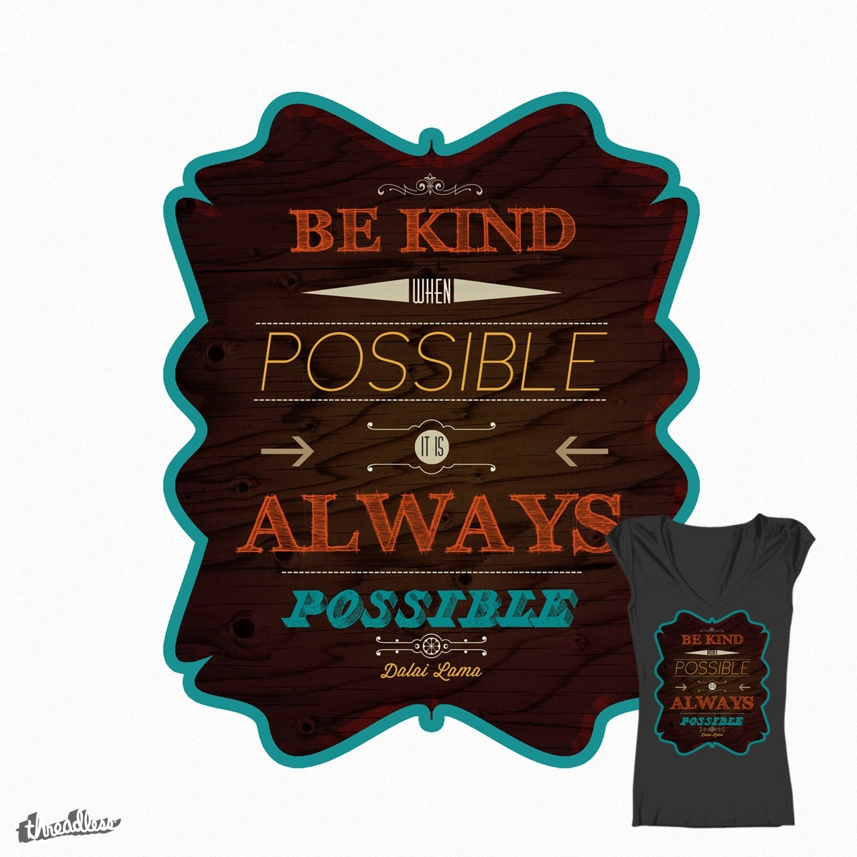 Be Kind by roro.did.onna on Threadless