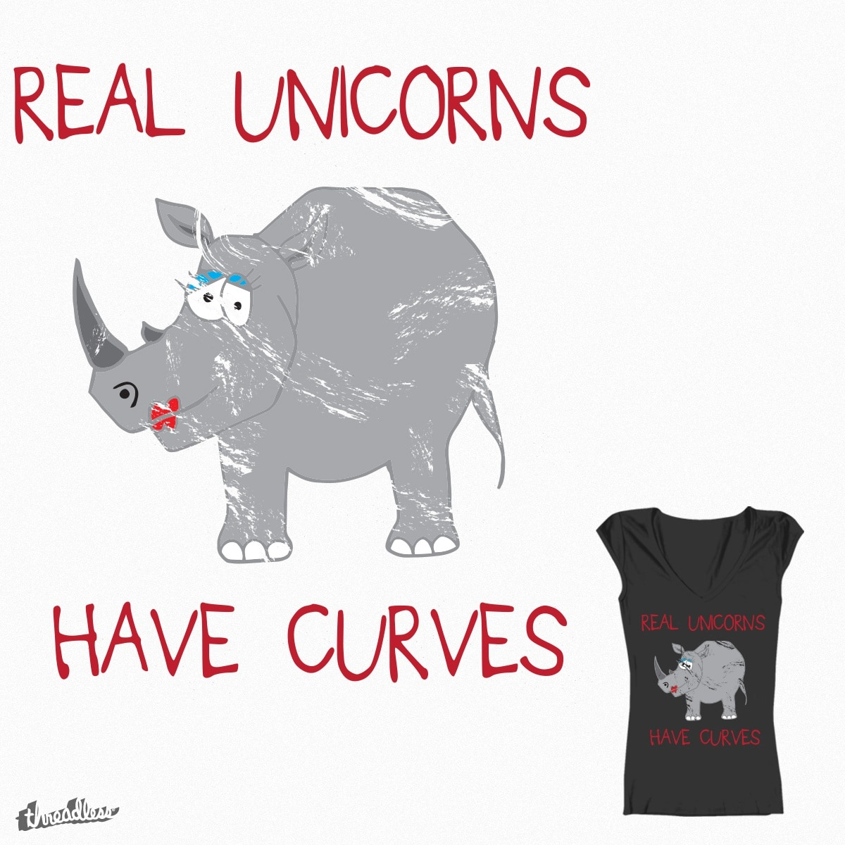 Real Unicorns have curves by Jamietaylor1985 on Threadless