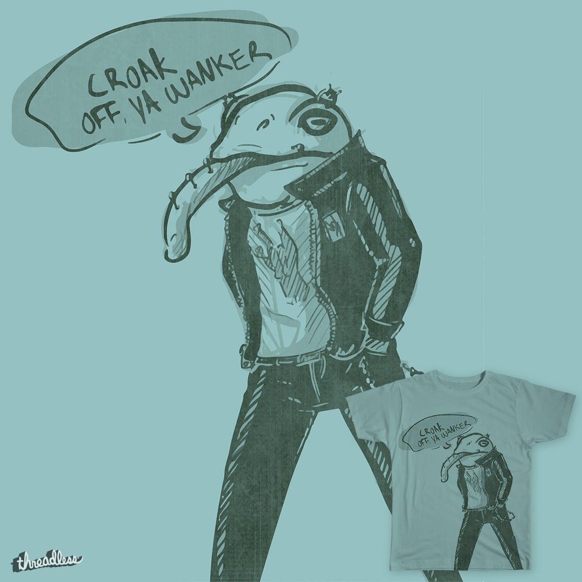 Frog Punk by SystemGlitch on Threadless