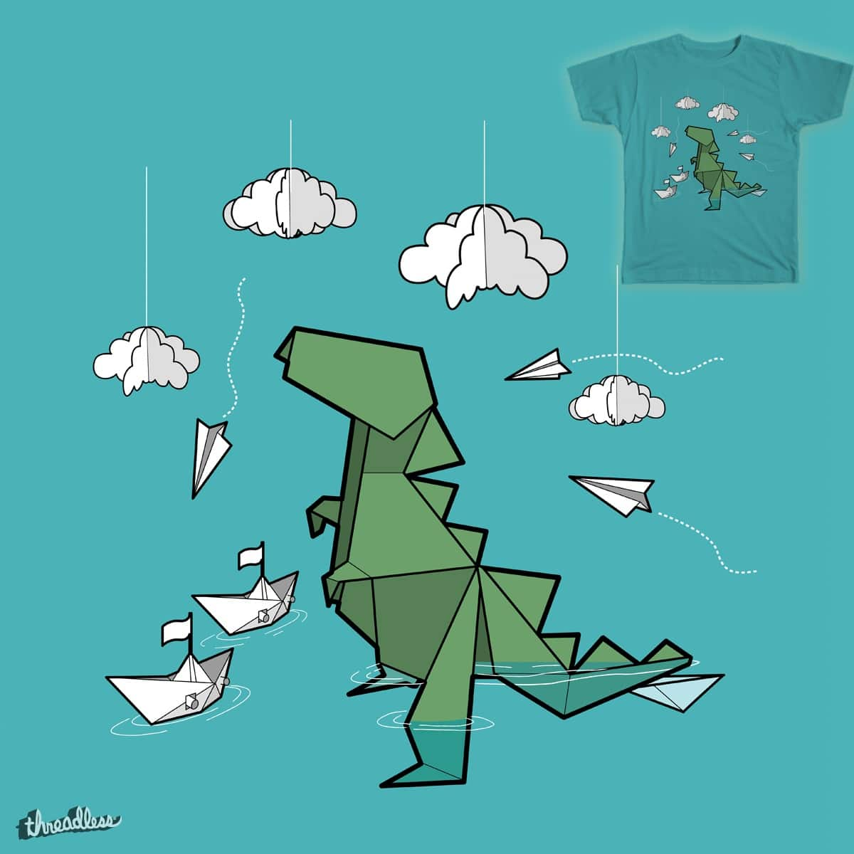 Playful Godzilla by TelecasterWood on Threadless