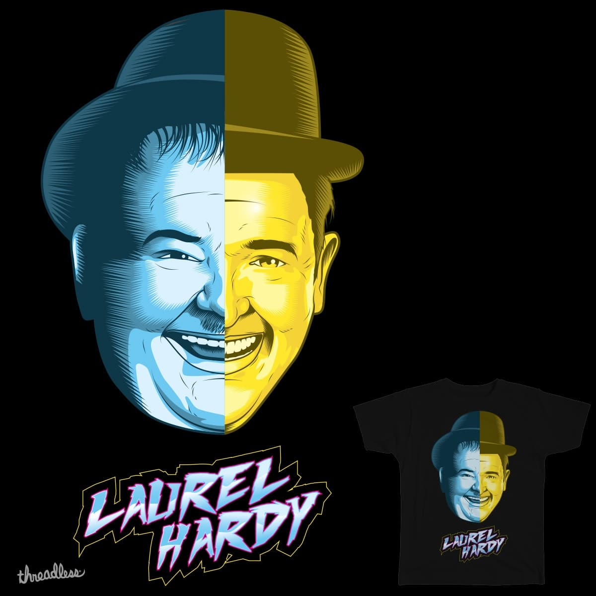 Laurel Hardy Daft Punk Mashup by roberlanborges78 on Threadless