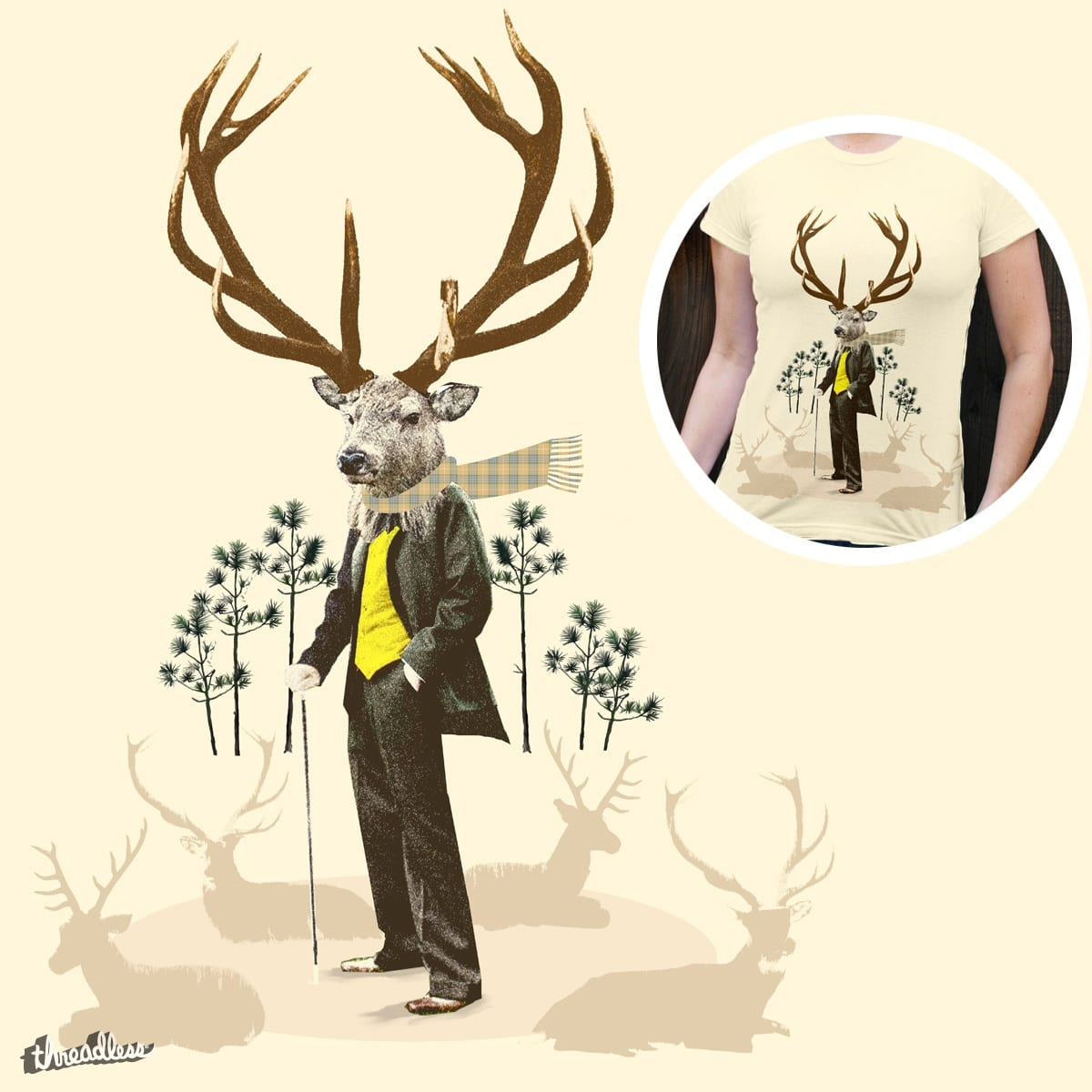 King stag by lev man on Threadless