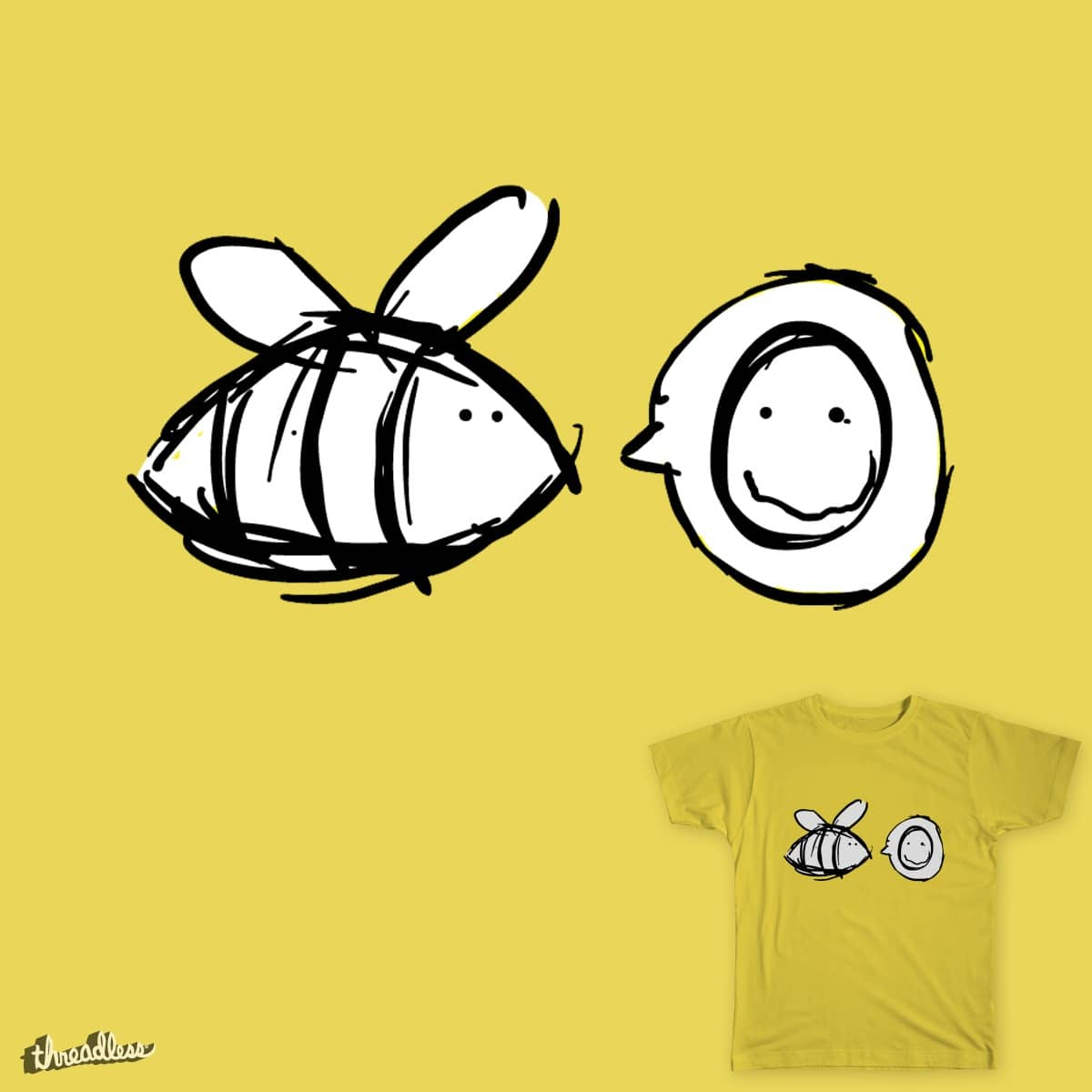Bee Happy by JackMontegue on Threadless