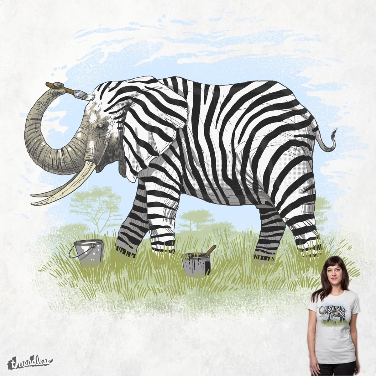Be yourself or be a Zebra by Oktomanuba on Threadless