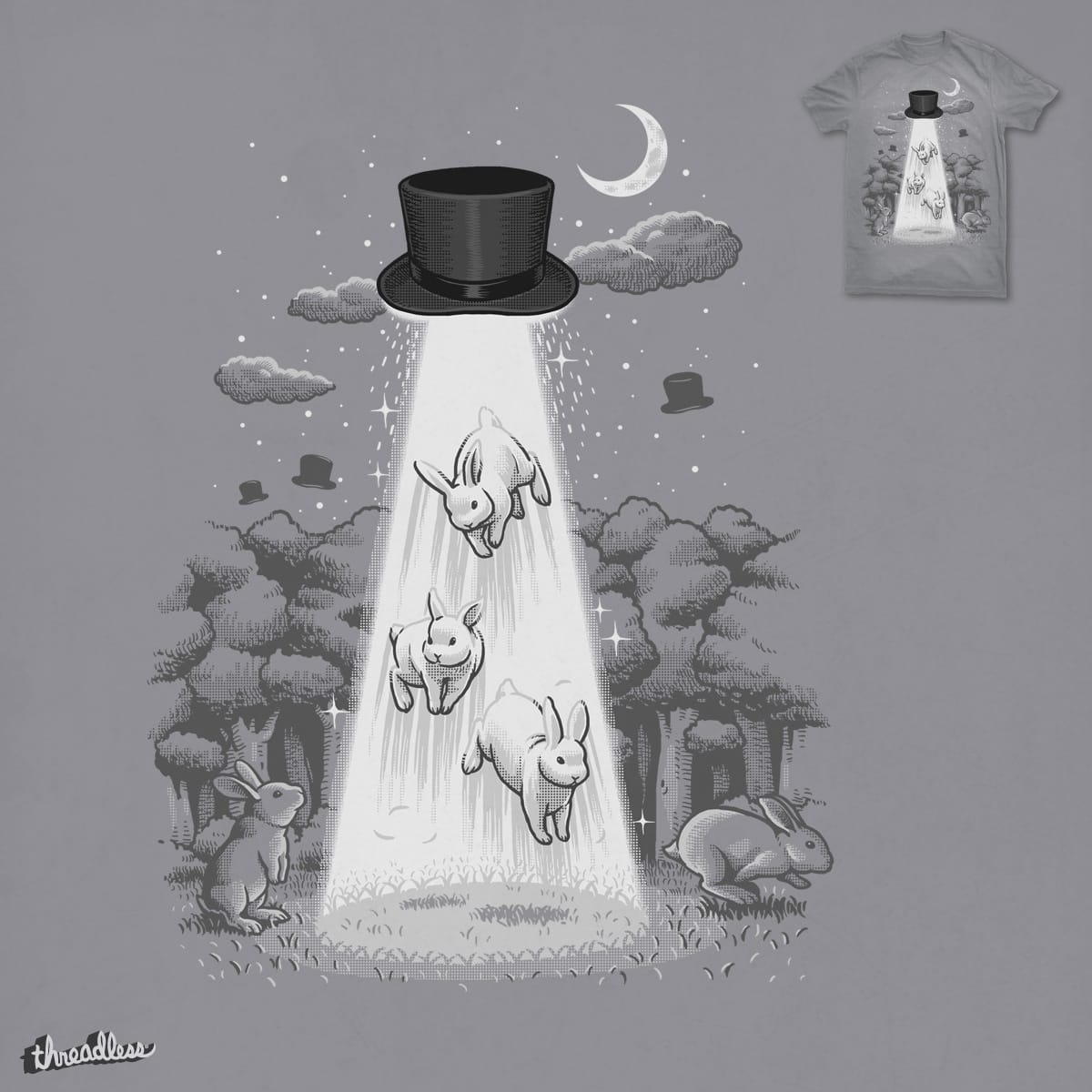 Unidentified Flying Magic Hat by ben chen on Threadless