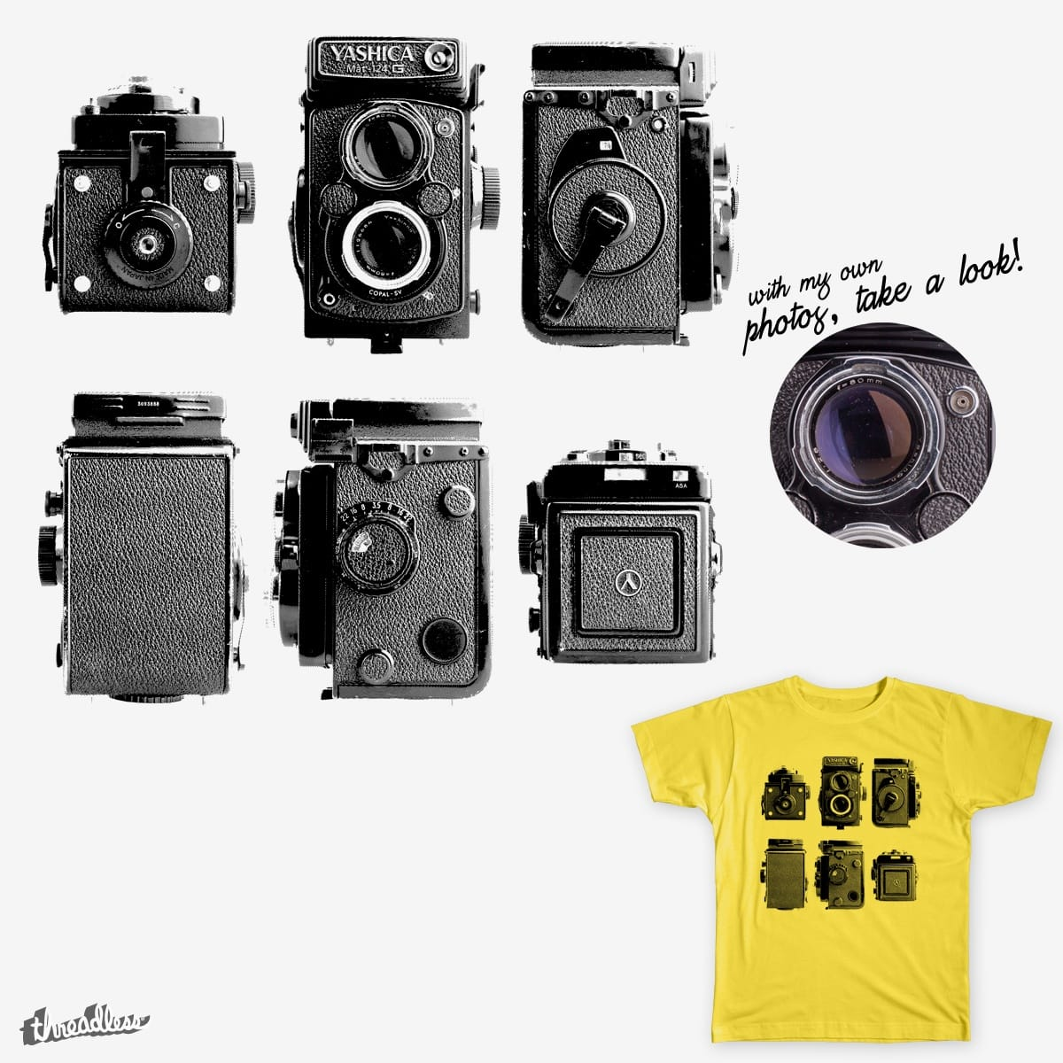 Old Flanked Camera by alvarobueno on Threadless