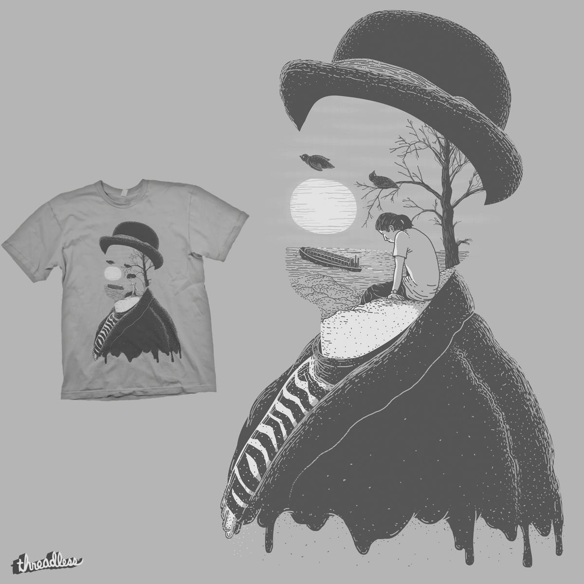 abstract clown by eliude_valverde on Threadless
