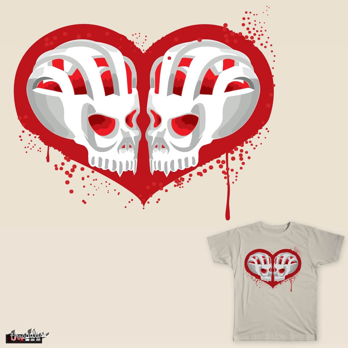 Love Skulls by chaitanyak on Threadless