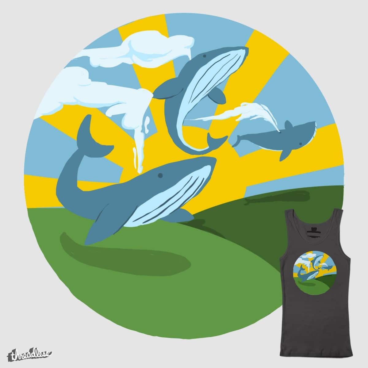Whale Trail by TeamGerrie on Threadless