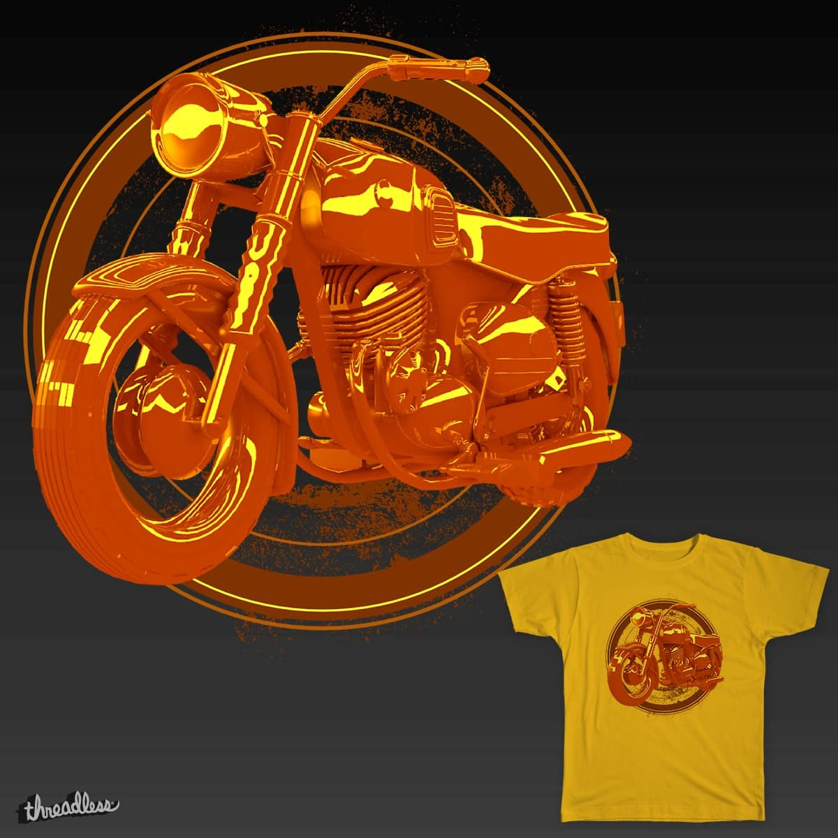 Brown Motorcycle by chaitanyak on Threadless