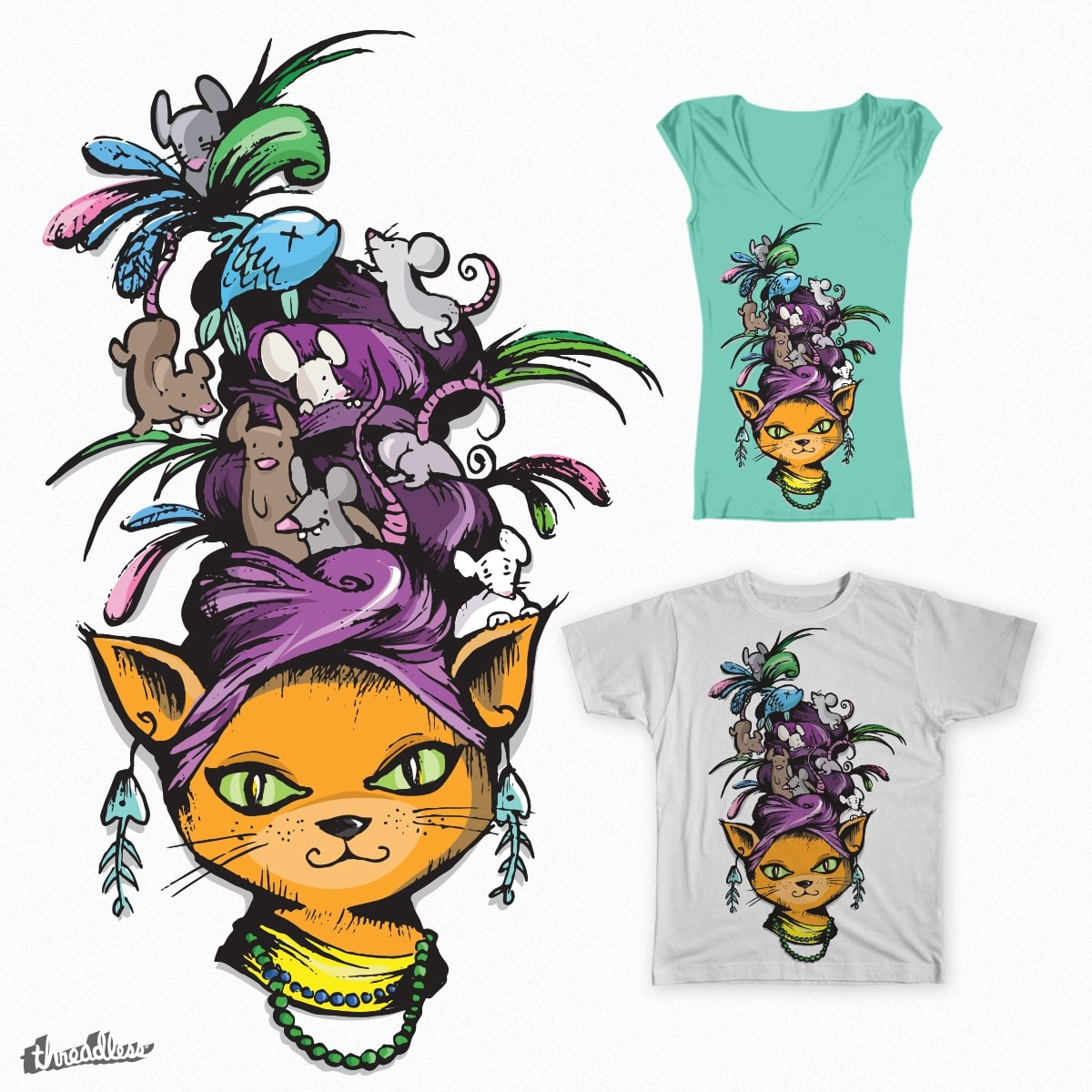 Carmen Meowranda by theinkedmink on Threadless