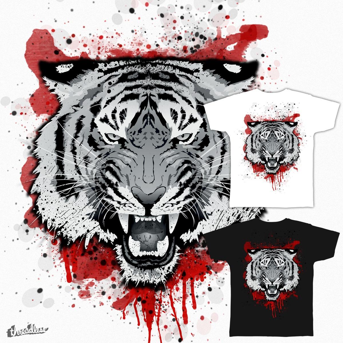 tiger_head_blood by ben35dan on Threadless