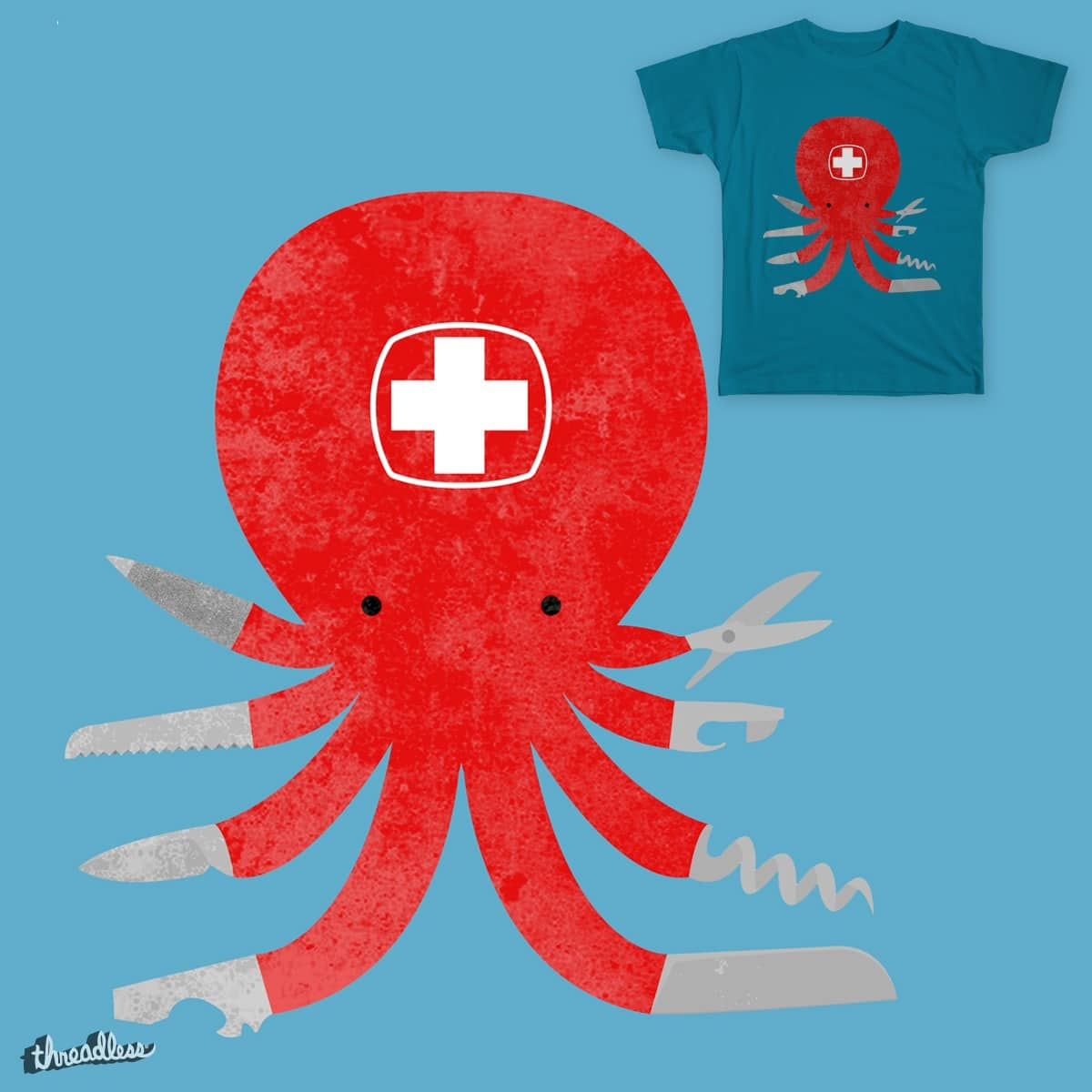 Swiss Octoknife by luka_jk on Threadless