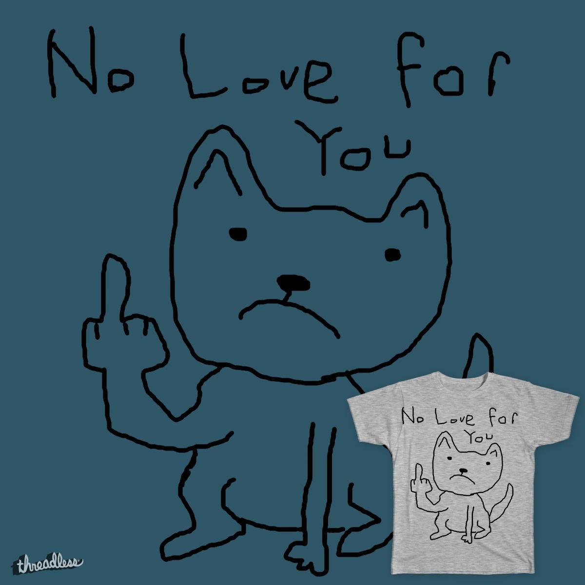 Unloving Cat by TetsuY on Threadless
