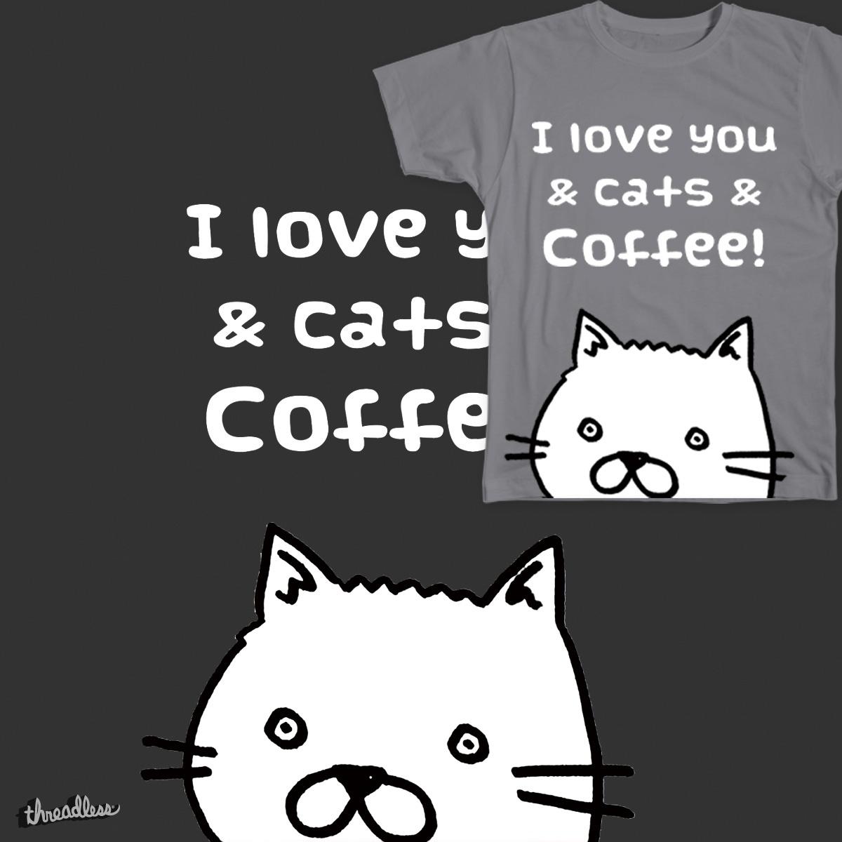 love cats&coffee by KaoriSakata on Threadless