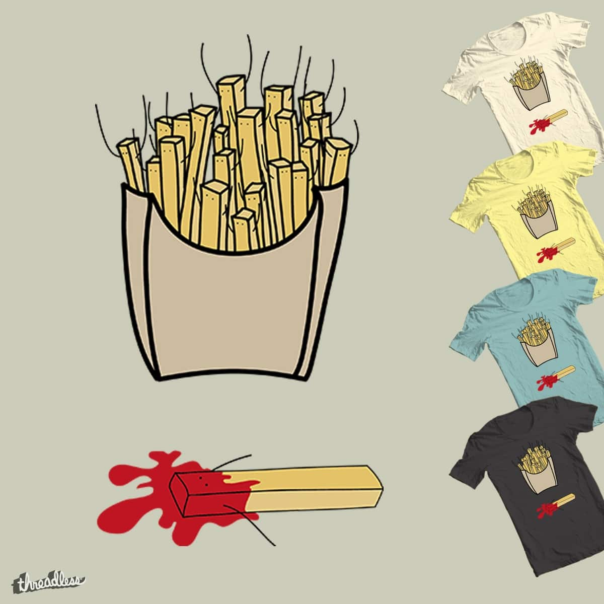 fries dead by coclodesign on Threadless